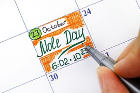 Mole Day on calendar