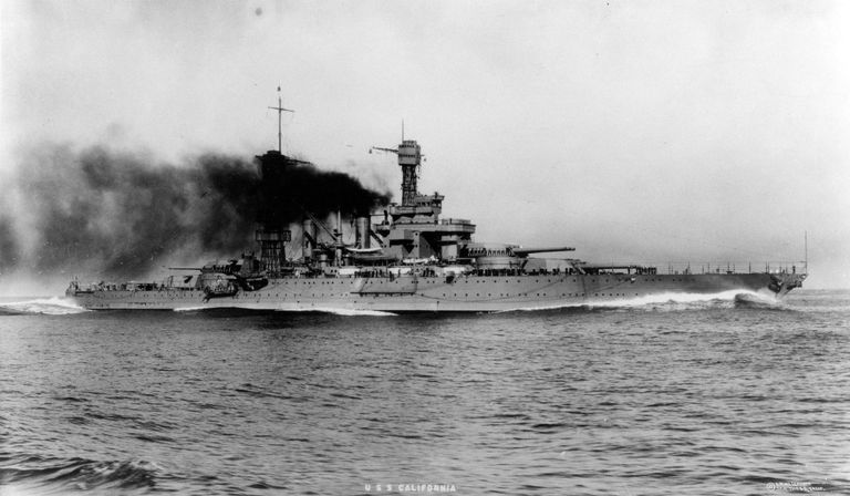 USS California, 1921