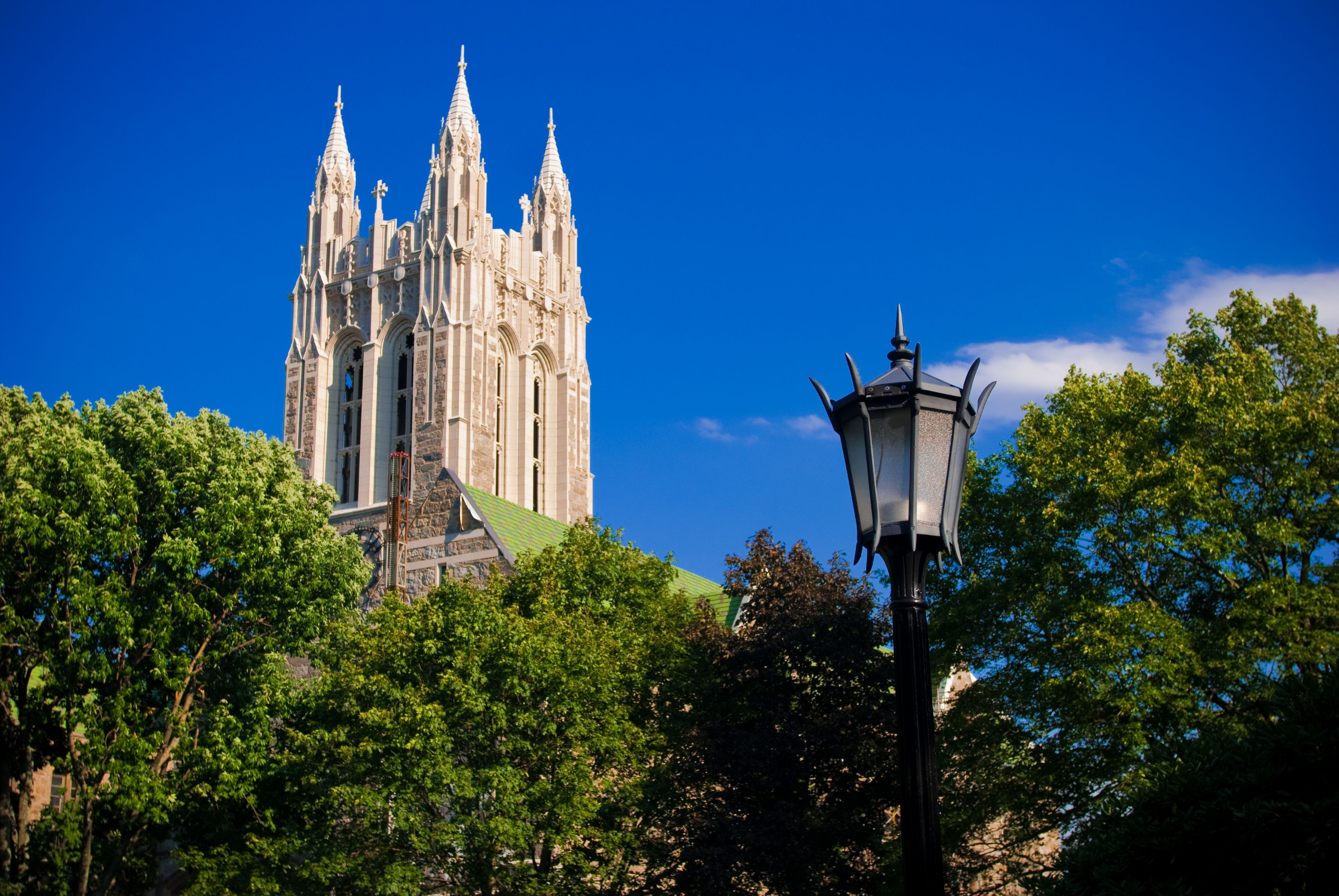 Gasson Hall on Boston College campus in Chestnut Hill, MA