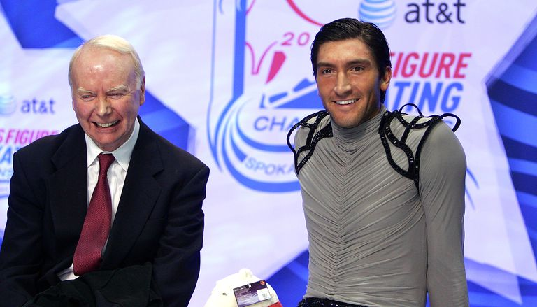 Evan Lysacek and his coach Frank Carroll