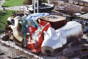Frank Gehry architectural style reflects the Funk Art Movement