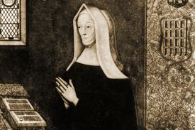Margaret Beaufort in black and white