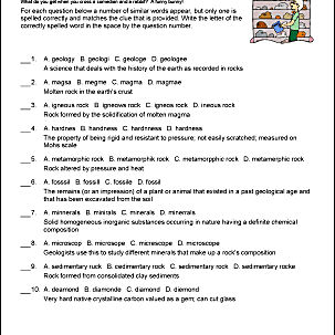 Rocks Spelling Worksheet