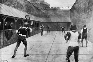 A game of tennis during the time of King Henry VII