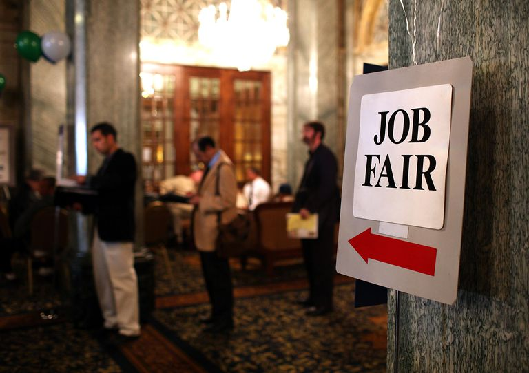 Career Fair Held For Job Seekers SAN FRANC...