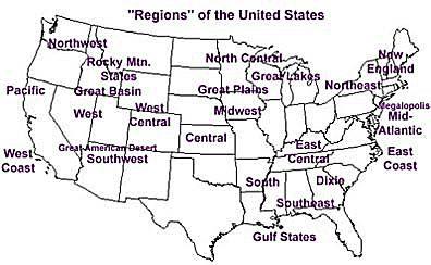 A map of U.S. regions.