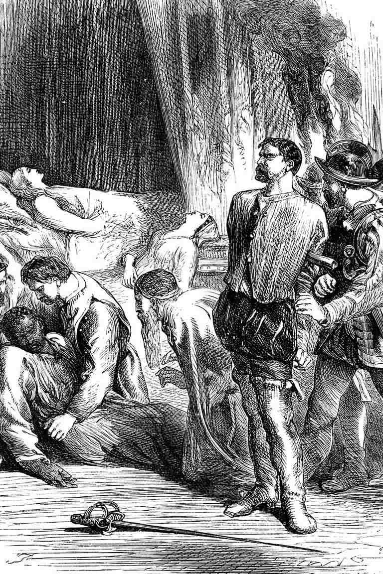 Scene from Shakespeare's Othello, 19th century.