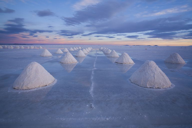 Salt separated from water
