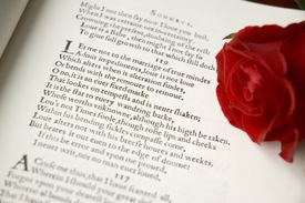 A Shakespeare love sonnet as it was originally printed. Sonnet 119 is actually 116, but the original print had a typo.