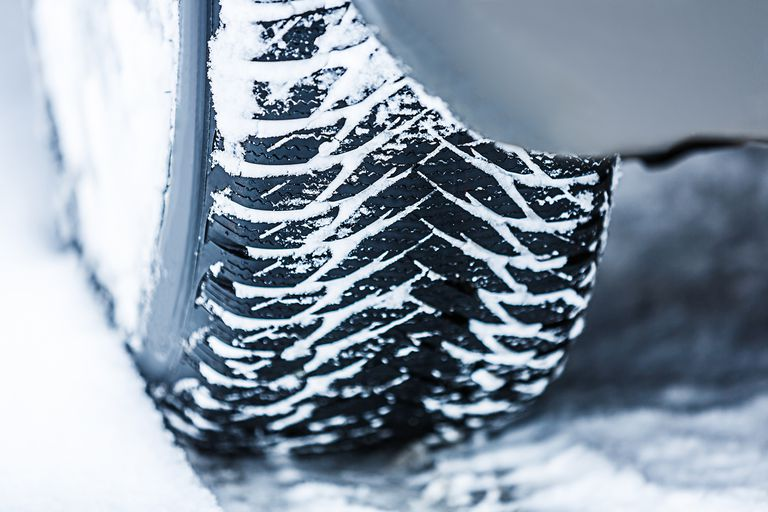 Car M+S Tire in Snow