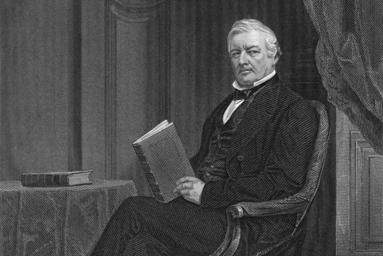 Engraved portrait of Millard Fillmore