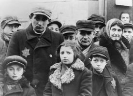 Picture of Jews in the Lodz Ghetto