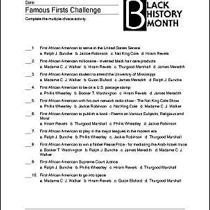 Print f These Black History Month Worksheets