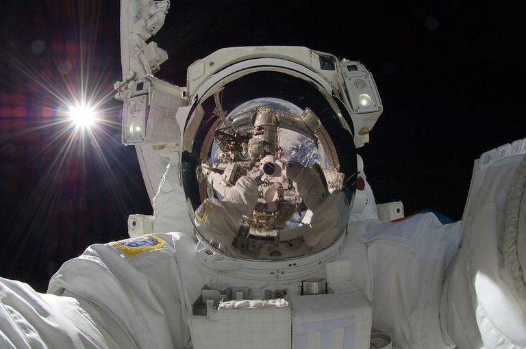 Astronaut in outerspace