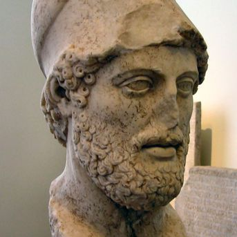 Pericles from the Altes Museum in Berlin. A Roman copy of a Grek work sculpted after 429.