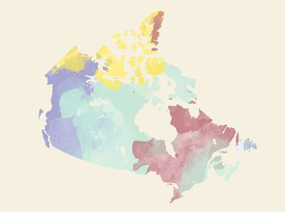 Map Of The Provinces And Territories Of Canada.Canadian Provinces And The Confederation