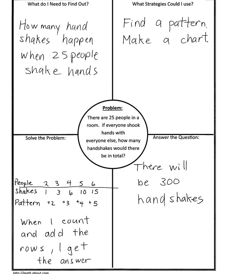 Using 4 block 4 corners template in math 4 block handshake problem d russell ccuart Choice Image