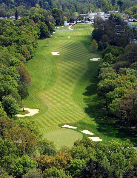 Aerial view parkland golf course