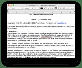 Screenshot of Apple's TextEdit