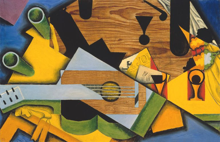 juan gris still life with a guitar