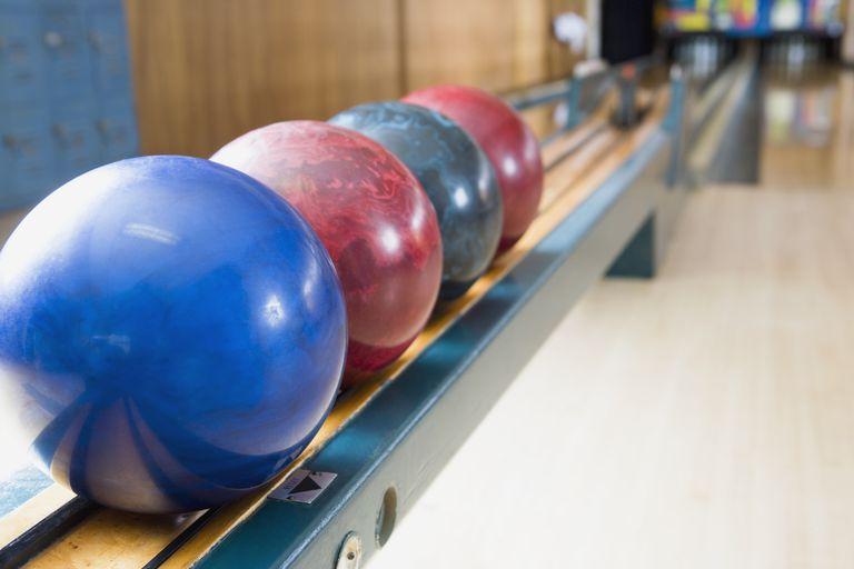 Bowling Balls on Rack