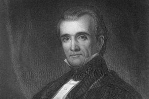 Engraved portrait of James K. Polk