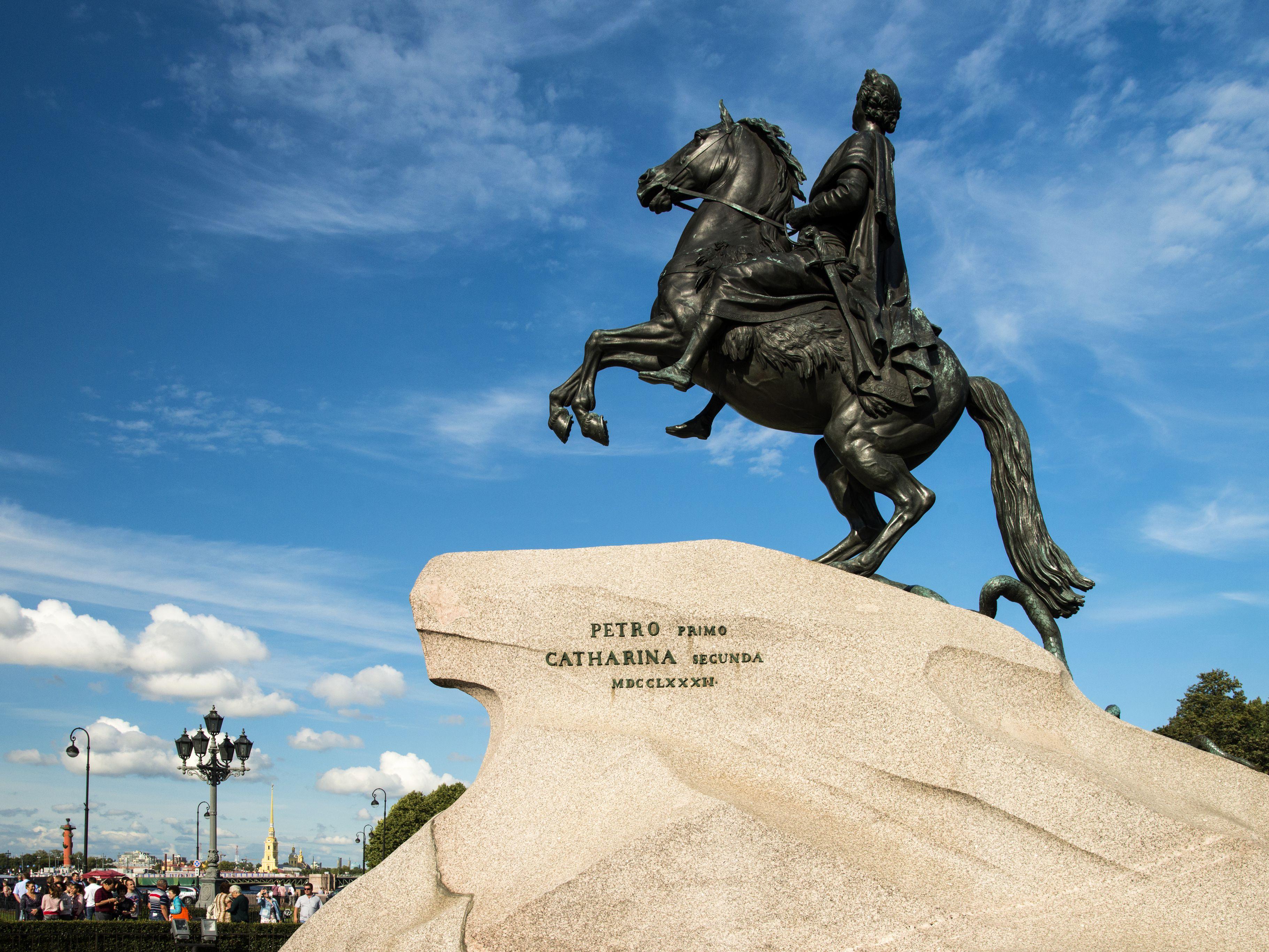 The Bronze Horseman statue of Peter the Great