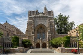 The Sterling Memorial Library at Yale University