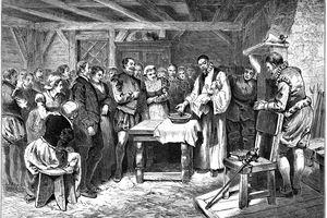 Baptism of Virginia Dare,