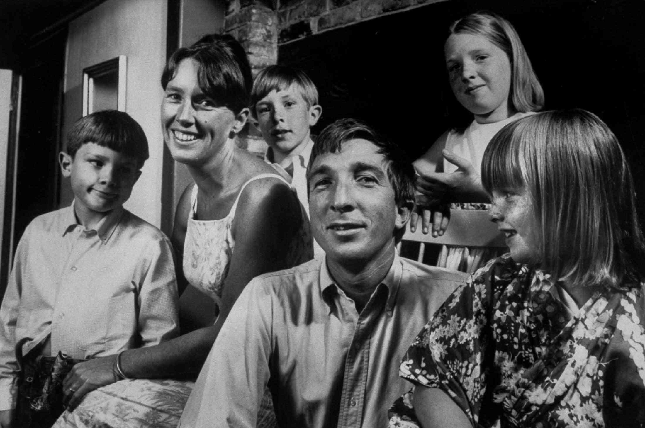 John Updike and Family