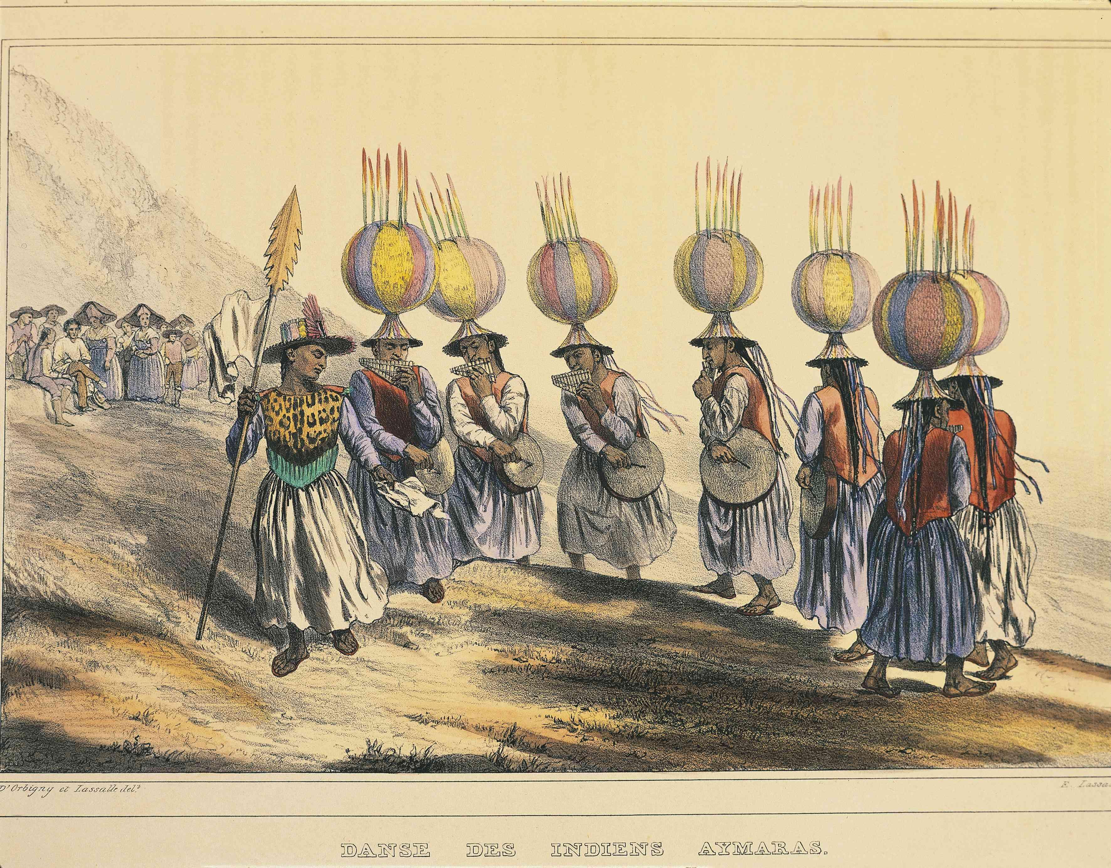 Aymara Indian dance, Bolivia, 1833