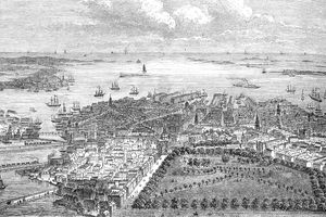 Aerial View of Colonial Boston