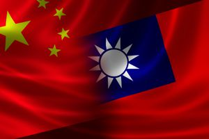 Merged flag of China and Taiwan