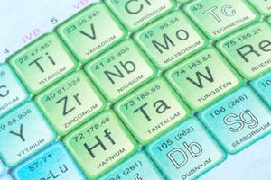 One and two letter symbols serve as shorthand for chemical element names.