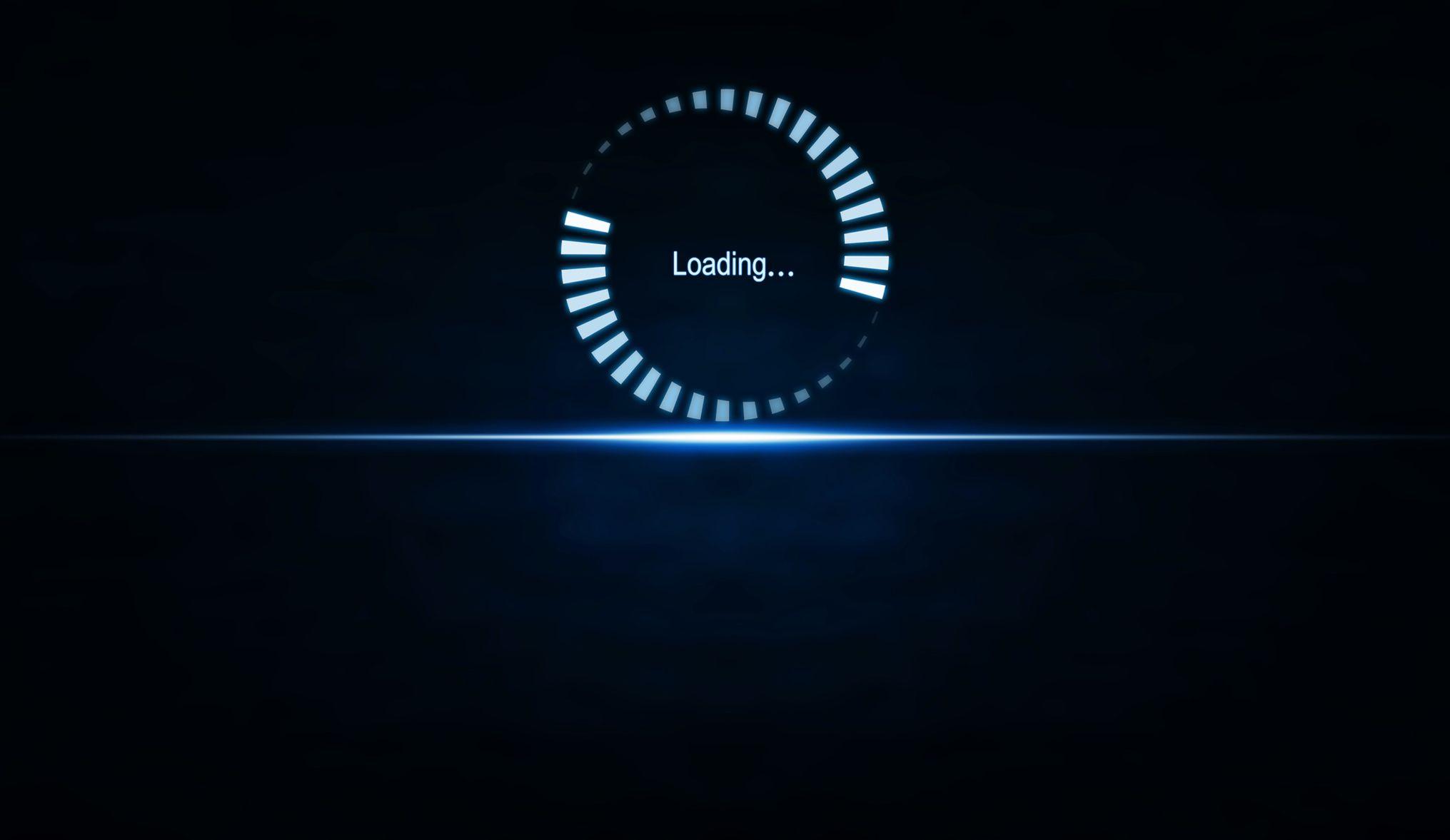 Illustration of webpage loading graphic