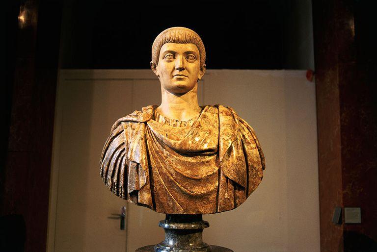 Roman sculpture bust of Emperor Constantine