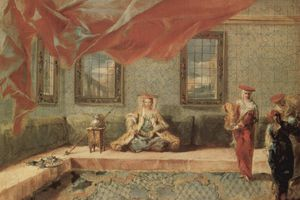 Harem scene as imagined by Giovanni Antonio Guardi, c. 1743