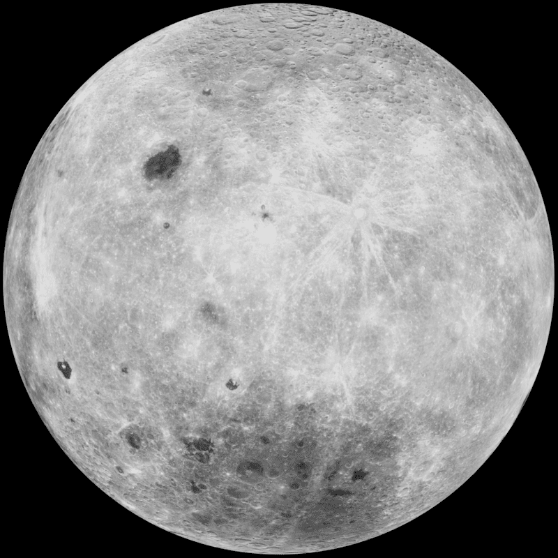 The south pole of the Moon.