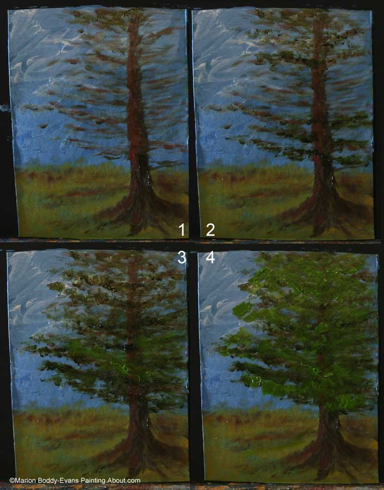 Wall Decoration Tree Painting