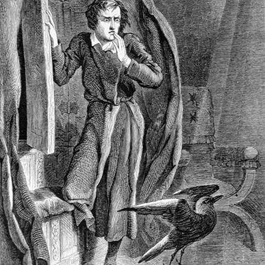 John Tenniel illustration for Edgar Allan Poe's