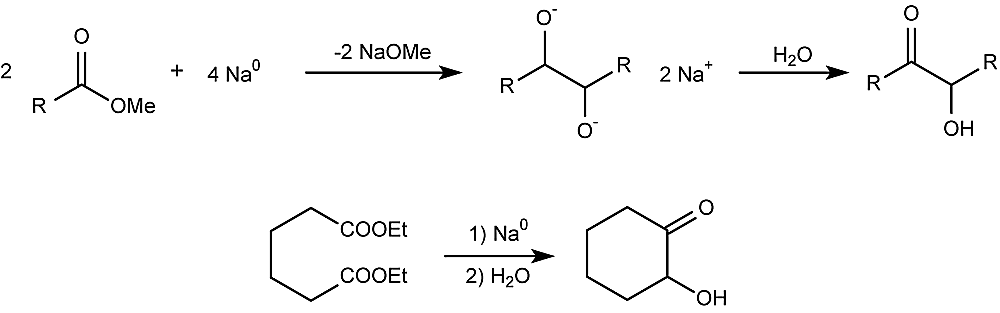 This is the acyloin condensation reaction.