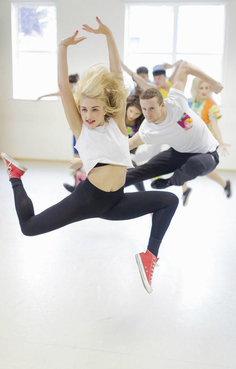 Dancers practicing in studio
