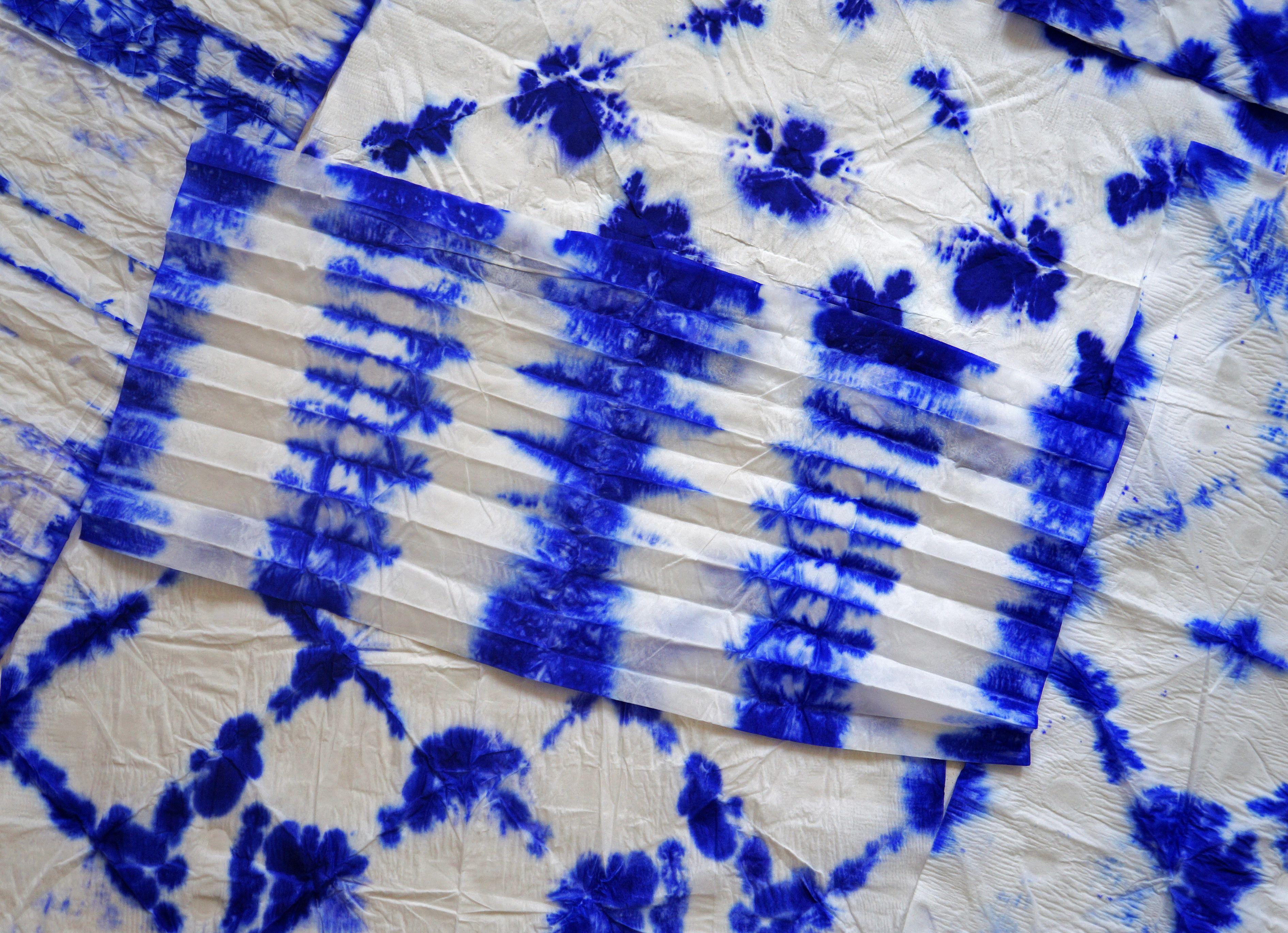 Permanent marker tie dye art