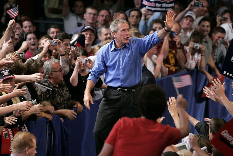 George W. Bush on campaign trail