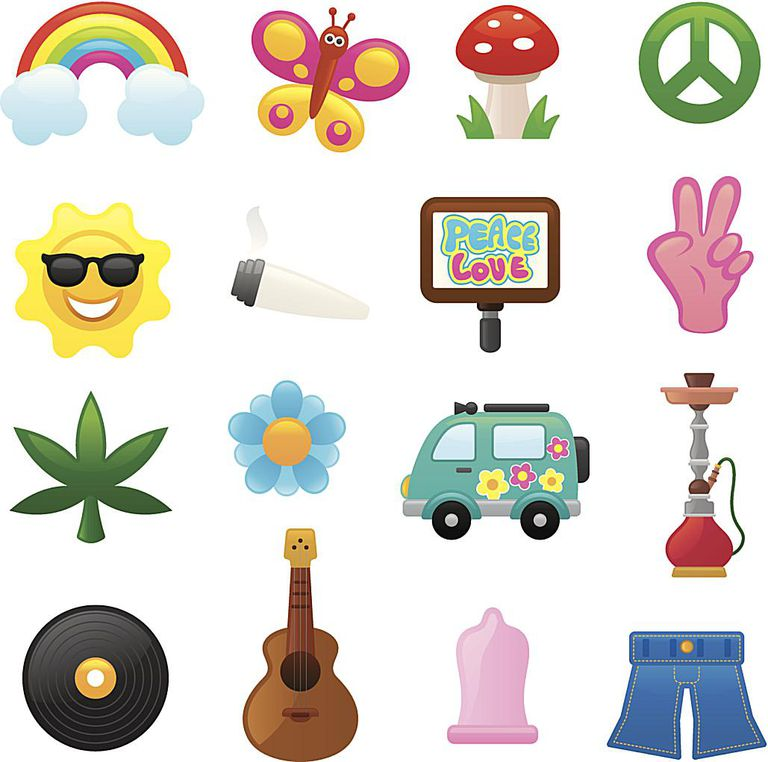 Colorful Flower power icons