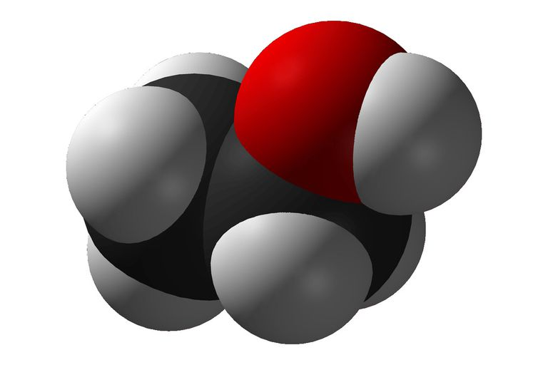 Illustration of an ethanol molecule