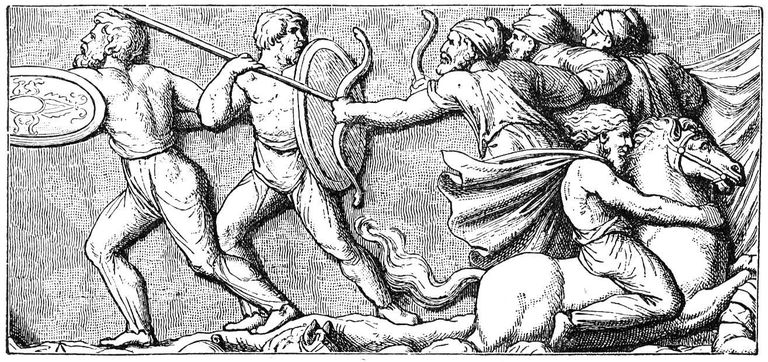 Illustration of Goths fighting