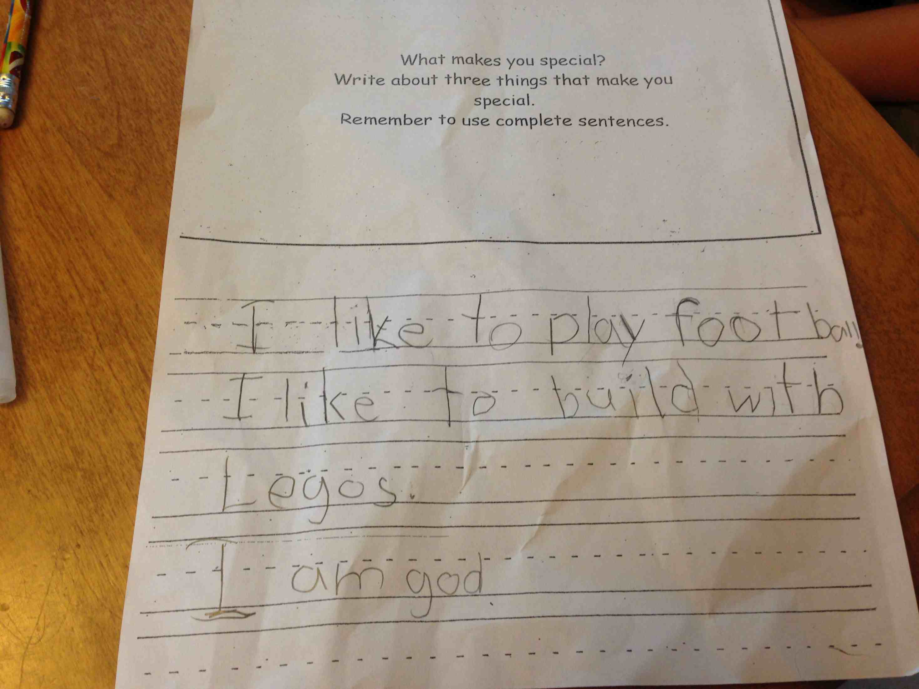 funny homework assignments from teachers