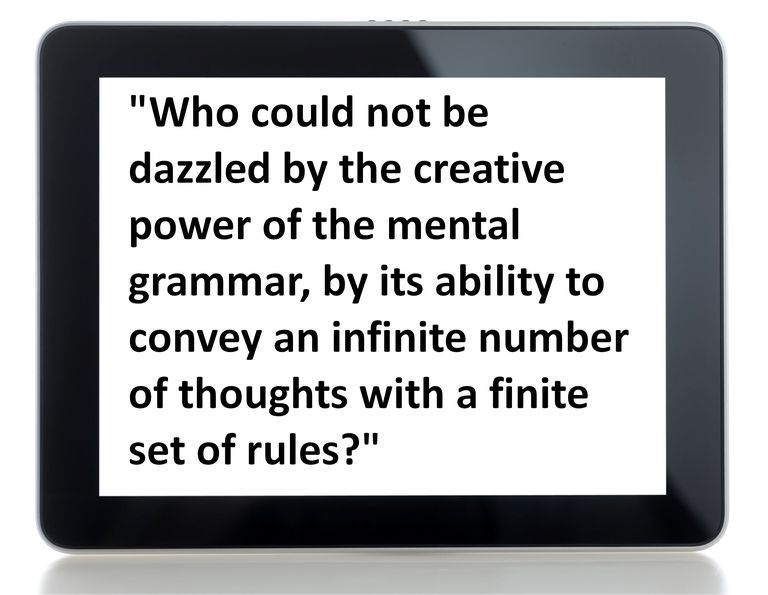 Definition and Discussion of Mental Grammar