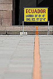 Equator in Ecuator